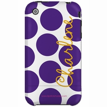Personalized Purple Dot Snap-on iPhone 4 Case