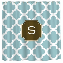 Personalized Quatrefoil Shower Curtain