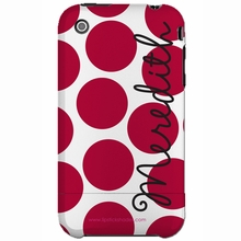 Personalized Red Dot Snap-on iPhone 4 Case