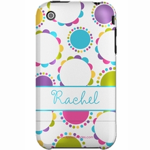 Personalized Scalloped Circles Snap-on iPhone 4 Case