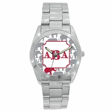 Personalized Stainless Steel Boyfriend Watch - Elephants