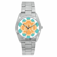 Personalized Stainless Steel Boyfriend Watch - Ikat Funk