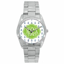 Personalized Stainless Steel Boyfriend Watch - Mini Anchors