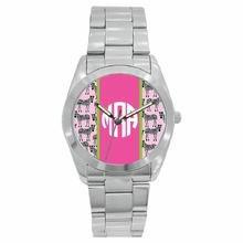 Personalized Stainless Steel Boyfriend Watch - Zebra
