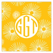 Personalized Sticky Note Cube - Monogram Circle
