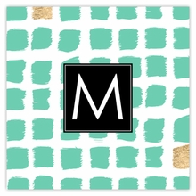 Personalized Sticky Note Cube - Single Initial Square