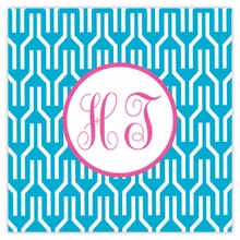 Personalized Sticky Note Cube - Two Initials Circle