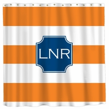 Personalized Striped Shower Curtain