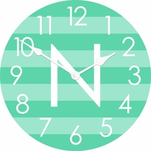 Personalized Horizontal Stripes Wall Clock