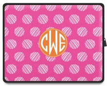 Personalized Tablet Sleeve - Monogram Circle