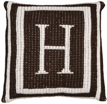 Personalized Thick Frame Initial Pillow
