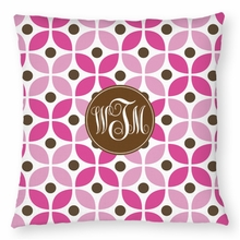 Personalized Throw Pillow - Monogram Circle