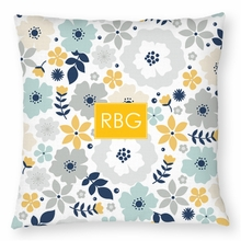 Personalized Throw Pillow - Monogram Square