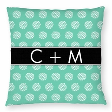 Personalized Throw Pillow - Name Band