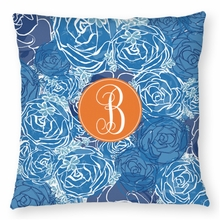 Personalized Throw Pillow - Single Initial Circle