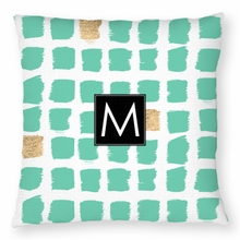 Personalized Throw Pillow - Single Initial Square
