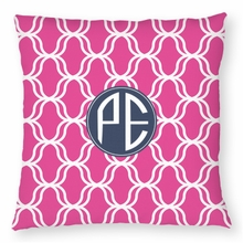 Personalized Throw Pillow - Two Initials Circle