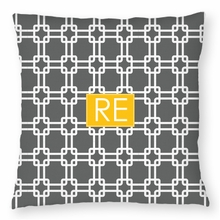 Personalized Throw Pillow - Two Initials Square