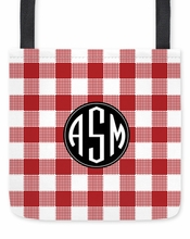 Personalized Tote Bag - Monogram Circle