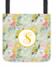 Personalized Tote Bag - Single Initial Circle