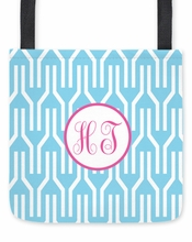 Personalized Tote Bag - Two Initials Circle