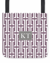 Personalized Tote Bag - Two Initials Square