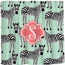 Personalized Zebras Shower Curtain
