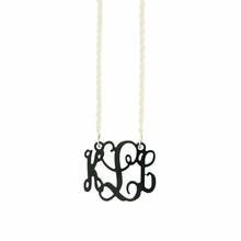 Petite Acrylic Monogram Necklace