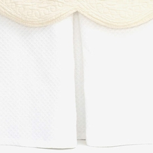 On Sale Petite Trellis White Twin Bed Skirt