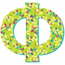 Phi Greek Letter Wall Decal