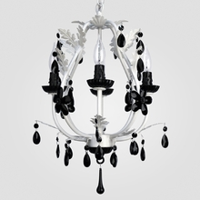 Phoebe Matte White Black Crystal Chandelier