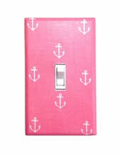 Pink Anchor Light Switch Plate Cover