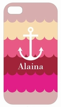 Pink Anchor Waves iPhone Case
