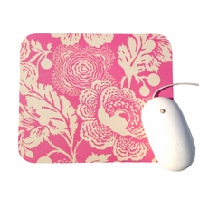 Pink and Cream Poppies Mouse Pad