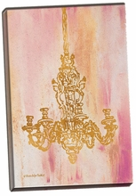 Pink and Gold I Canvas Wall Art