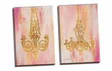 Pink and Gold I, II Canvas Wall Art Set
