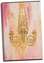 Pink and Gold II Canvas Wall Art