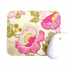 Pink and Green Poppies Mouse Pad