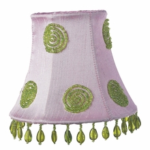 Pink and Green Swirl Chandelier Shade