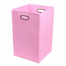 Pink Canvas Laundry Bin