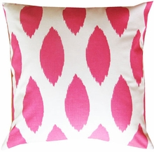 Pink Chaz Throw Pillow