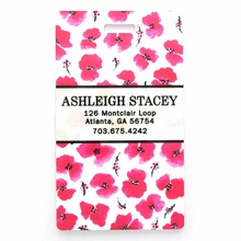 Pink Cherry Blossom Personalized Luggage Tag Set
