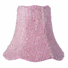 Pink Glass Bead Chandelier Shade