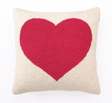 Pink Heart Hook Pillow