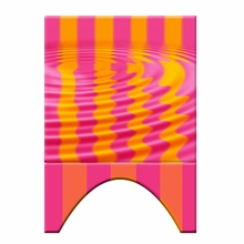 Pink Orange Water Ripple Headboard Wall Decal for Twin Bed
