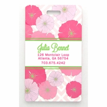 Pink Poppy Personalized Luggage Tag Set