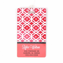 Pink Quilt Personalized Luggage Tag Set