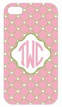 Pink Quilted iPhone Case