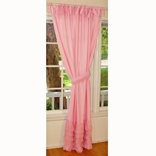 Pink Ruffle Window Panel Set of 2