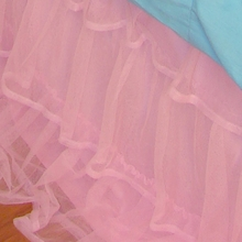 Pink Tulle Ruffle Bed Skirt